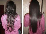 Профессиональное выпрямление волнистых волос, ламинирование, коллористик