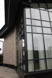 Дерево-алюминиевые окна из дуба с Белоруссии Астана