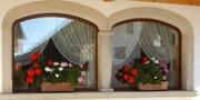 Дерево-алюминиевые окна из Красного дерева Караганда