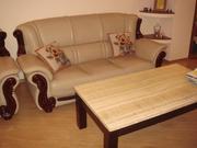 кожаную мебель бежевого цвета